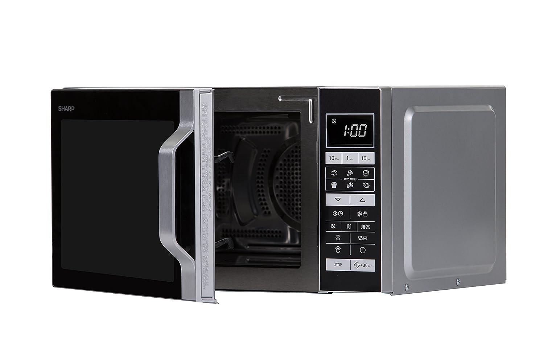 Sharp Home Appliances R860S Encimera - Microondas (Encimera, Microondas combinado, 25 L, 900 W, Tocar, Plata): Amazon.es: Hogar