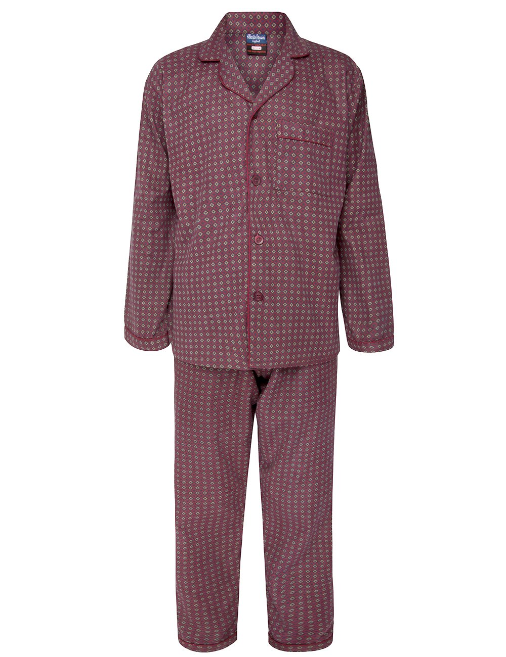 Alberto Rossini Mens Winter Winceyette Flannel Pyjamas Brushed Cotton Nighwear Sizes M to XXl