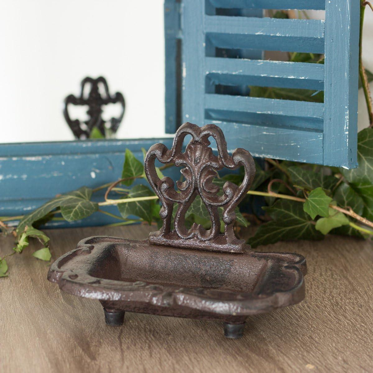 Antikas - Jabonera rústica, Soporte de jabón como Antiguo, dispensador de jabón en Estilo rústico