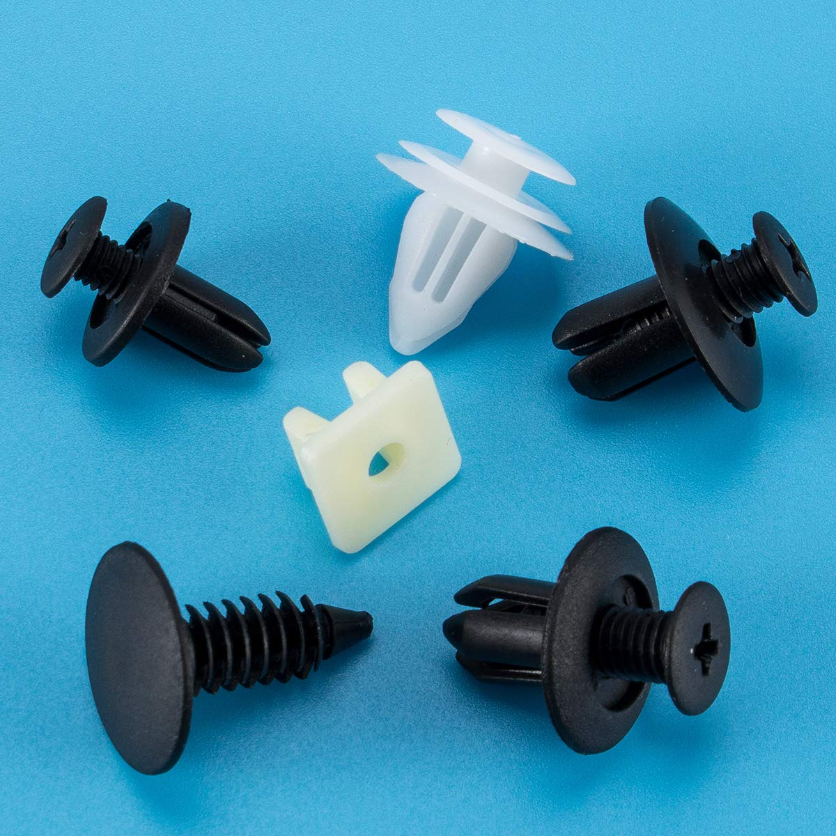 6 Especificaciones especificaciones universales y diferentes Soportes de la puerta Soportes de topes para Madholly 150PCS Clips de fijaci/ón para autom/óviles