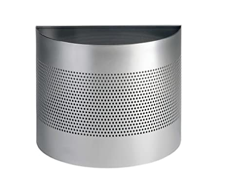 Atlanta A290203618 - Papelera Perforada 320 x 415 x 210 mm Capacidad de 20 l, Color metálico