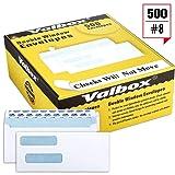 ValBox 500 Count #8 Double Window Envelopes 3