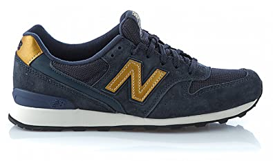 New Balance Damen Sneaker Blau/Gold - US9,5 (41): Amazon.de: Schuhe ...