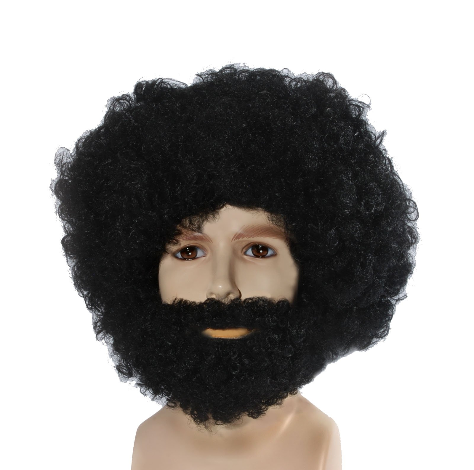 Amscan Black Afro Beard and Moustache