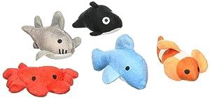 "Rhode Island Novelty 3"" Sea Life Plush Toys | Bag of 24 Pieces |"