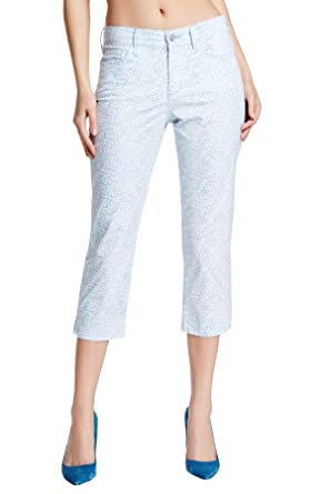 f6c8ebbd20 Image Unavailable. Image not available for. Color  NYDJ Not Your Daughters  Jeans Petite Denim Ditsy Capri Size 10P