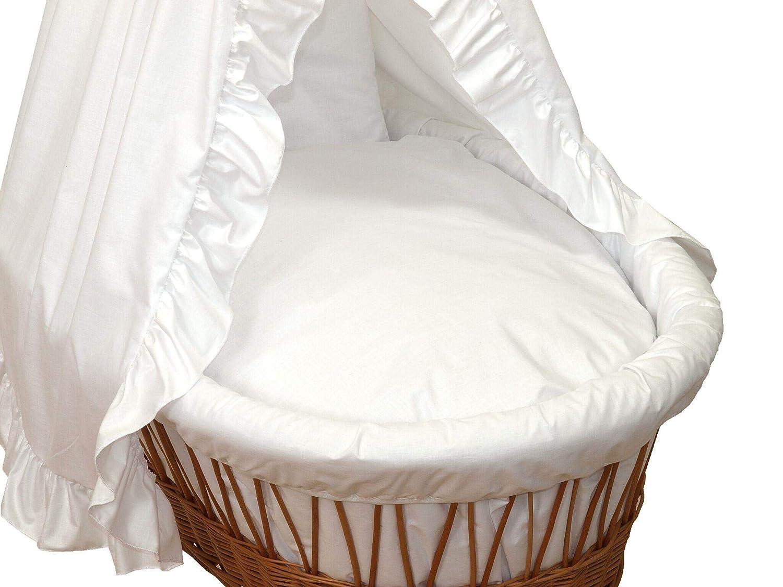 Amigos xxl ausstattung für stubenwagen weißer traum inkl. matratze