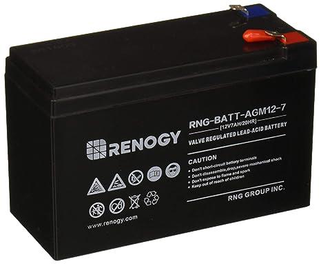 Amazon.com: Renogy - Batería de plomo sellado recargable de ...
