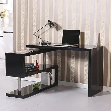 generic46068 oficina escritorio vertibl estante Combo CE des negro ...