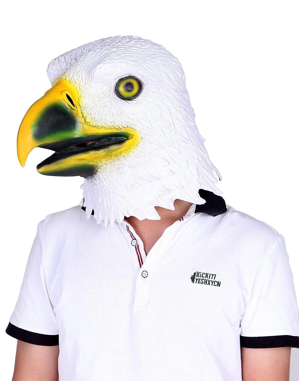 Amazon.com: HDE Rubber Latex Eagle Head Face Mask Patriotic US ...