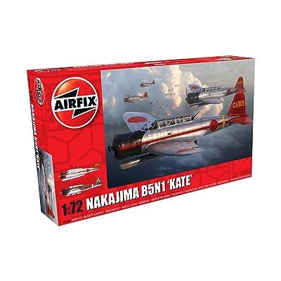 Airfix Nakajima B5N1 Kate 1:72 Military Aircraft Plastic Model Kit: Toys & Games