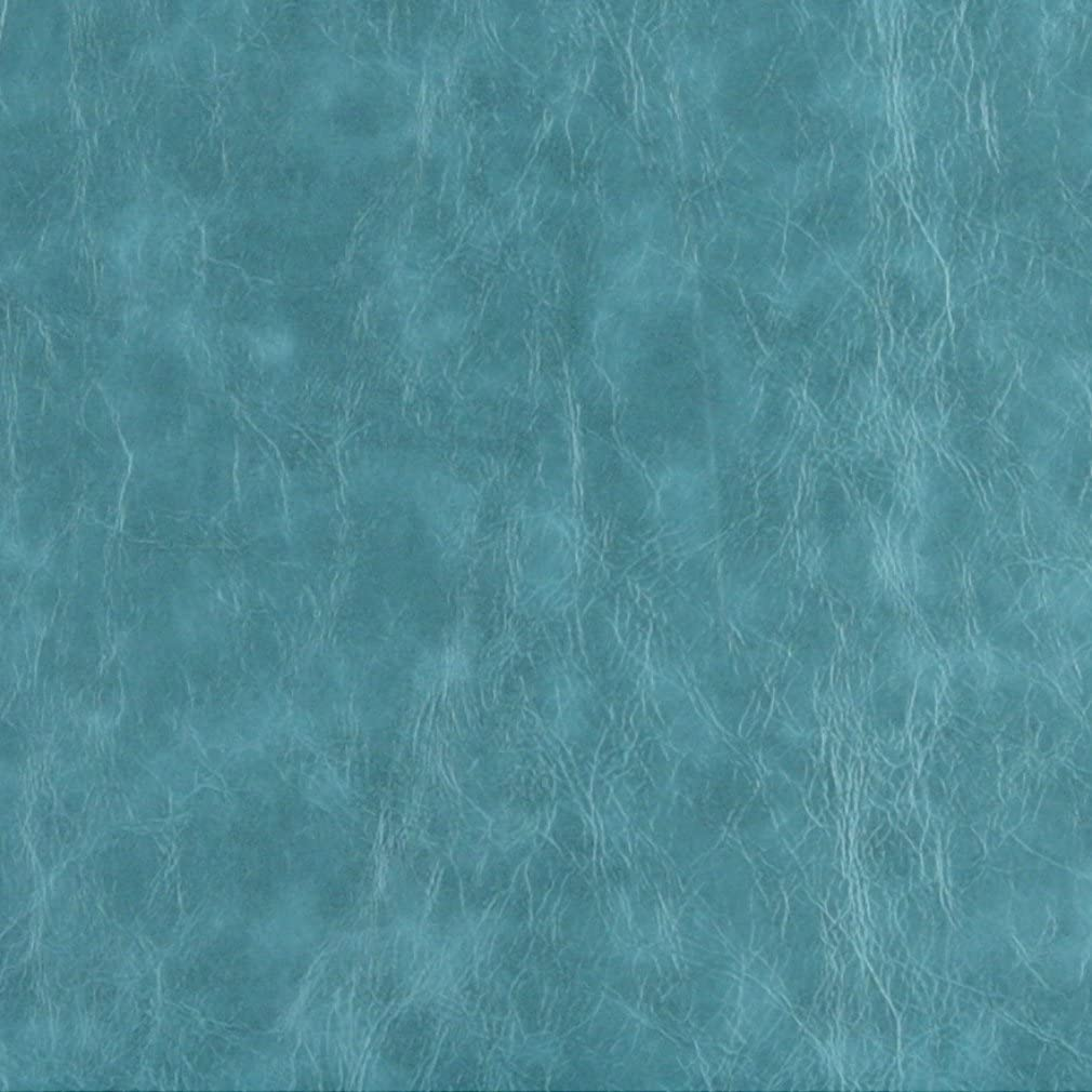 G628 Turquoise Distressed Leather Look Upholstery Grade Recycled Leather (Bonded Leather) by The Yard