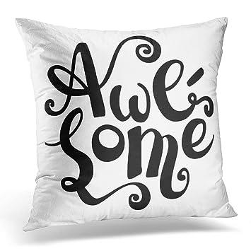 Amazon.com: Sdamase - Funda de almohada con diseño de letras ...