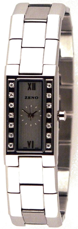Zeno-Watch Damenuhr - Baguette 14 Swarowski Crystalls - 8113Q-c3M