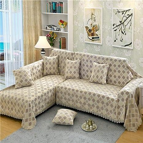 Amazon.com: GX&XD Funda de sofá de jacquard gruesa ...
