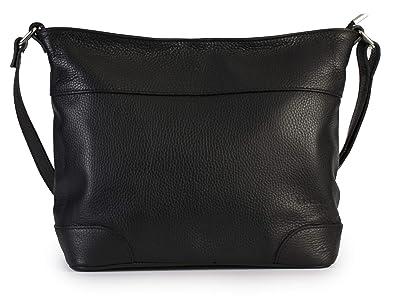 cefbc67c49 LIATALIA Womens Genuine Italian Leather Medium Size Hobo Shoulder Handbag -  JANE  Black