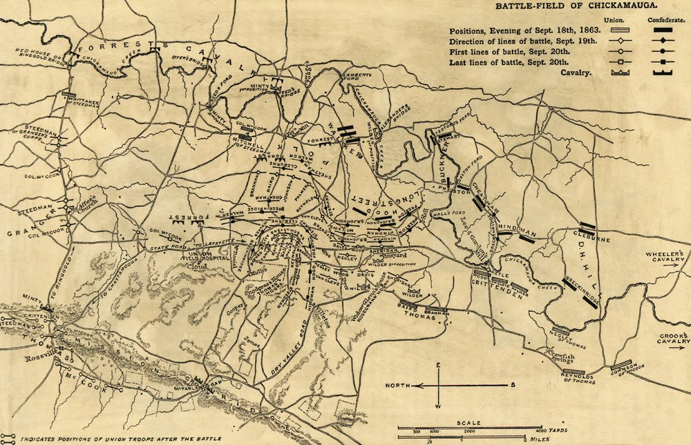 Amazoncom Battle Of Chickamauga Civil War Panoramic Map - Battle of chickamauga map
