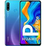 "Huawei P30 Lite - Smartphone de 6.15"" (WiFi, Kirin 710, RAM de 4 GB, Memoria Interna de 128 GB, cámara de 48 + 2 + 8 MP, Android 9) Color Azul"