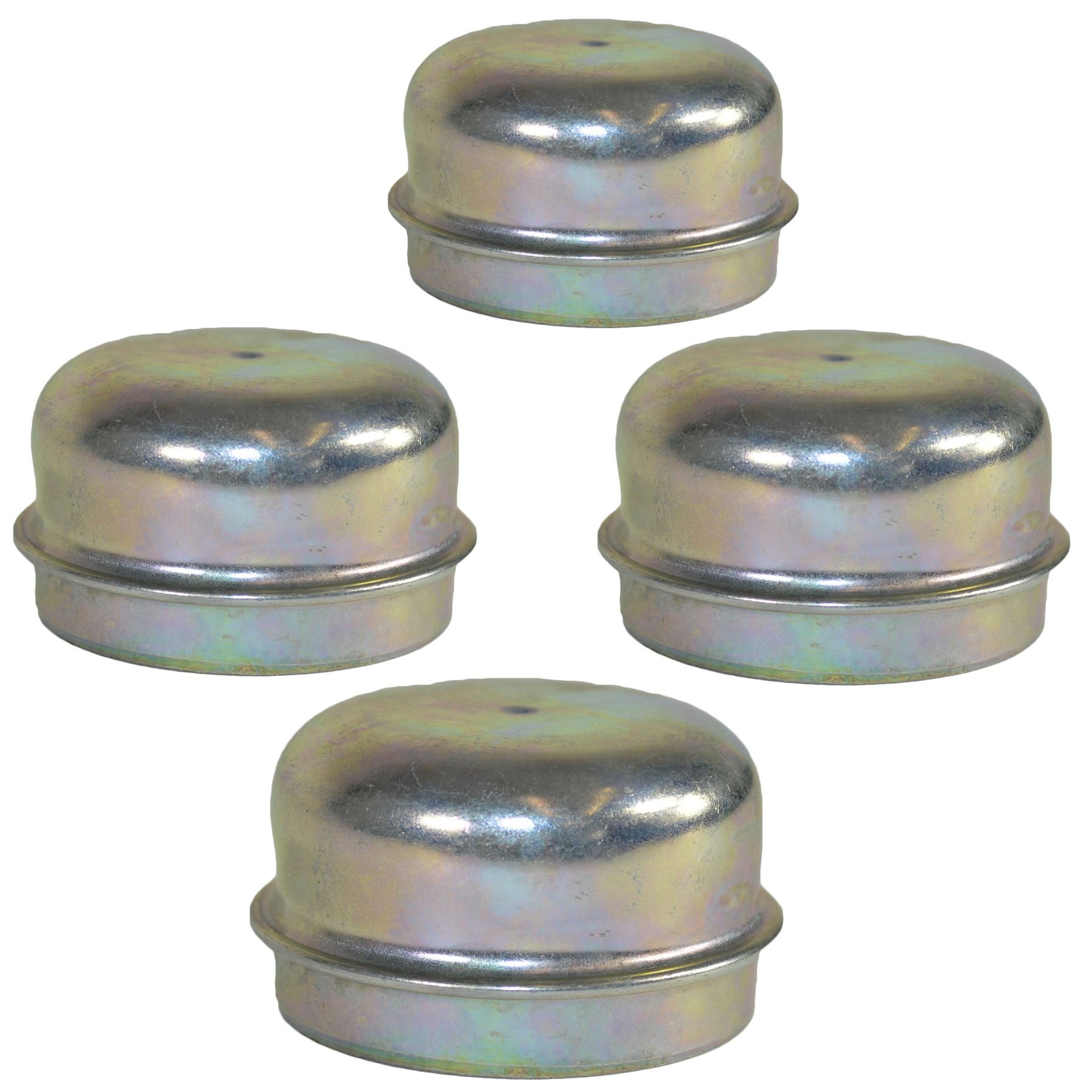 AB Tools 4 Replacement 50mm Metal Dust Cap Wheel Hub Trailer Bearing Grease Cover