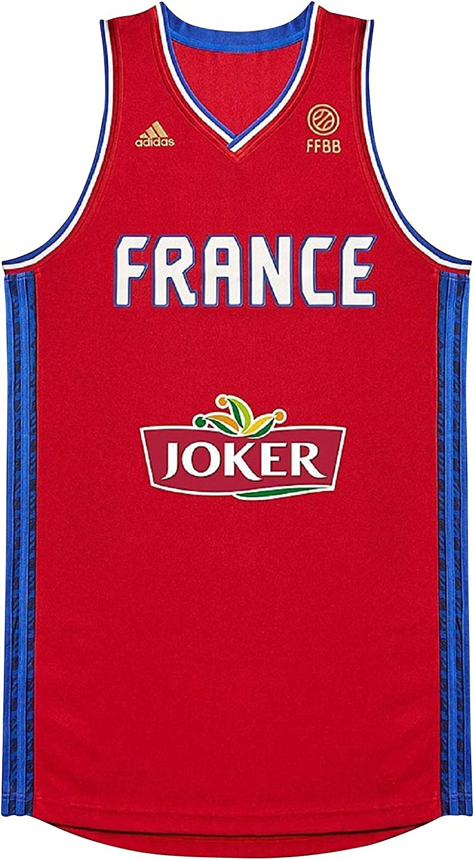adidas Maillot Equipe de France Basket Ball FFBB R JSY AI6327: Amazon.es: Ropa y accesorios