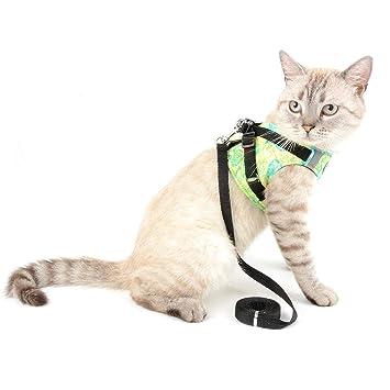 SELMAI Impresión Gato Arneses para Perros Pequeños Reflexivo Fácil ...
