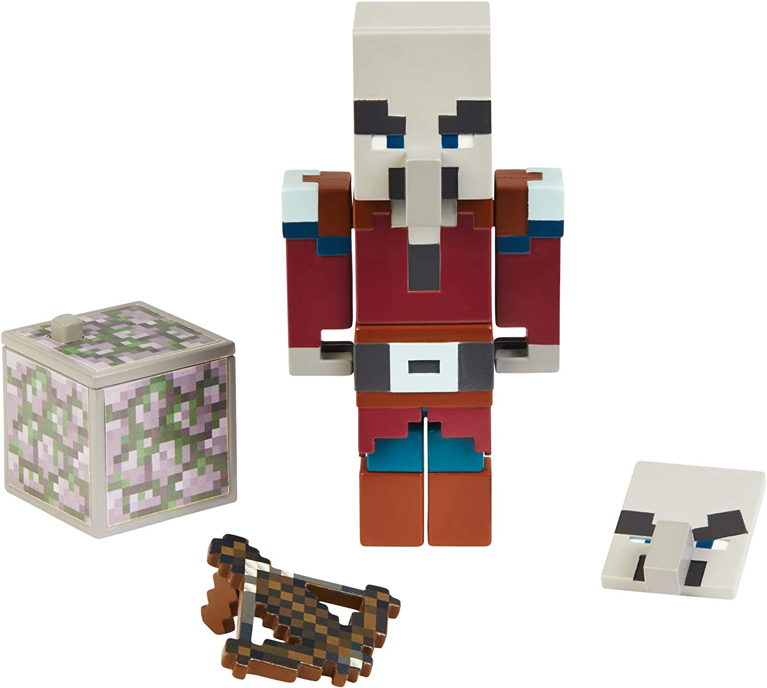 Minecraft Pillager With Mossy Cobble Block And Crossbow Comic Book Nip Amazon Co Uk Toys Games