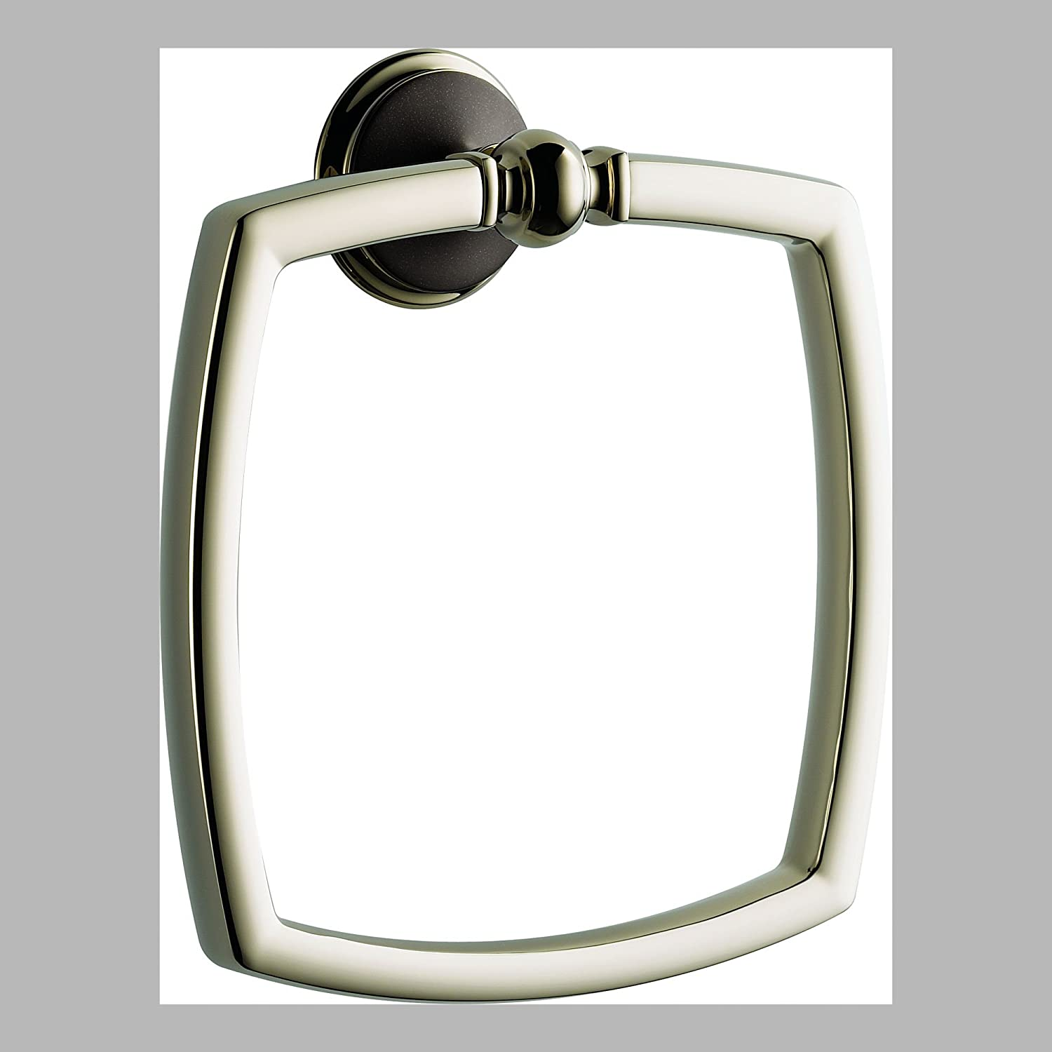good Brizo 694685 Towel Ring from the Charlotte Collection, Cocoa Bronze and Polished Nickel