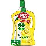 ديتول هيلثي هوم برائحة الليمون منظف لجميع الاستخدامات بسعة 3 لتر + 900 مل