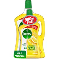 Dettol Lemon Antibacterial Power Floor Cleaner 3L + 900ml Free