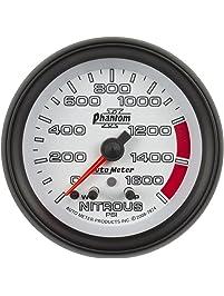 Auto Meter 7874 Phantom II 2-5/8-Inch 0-1600 PSI Full Sweep Electric Nitrous Pressure Gauge