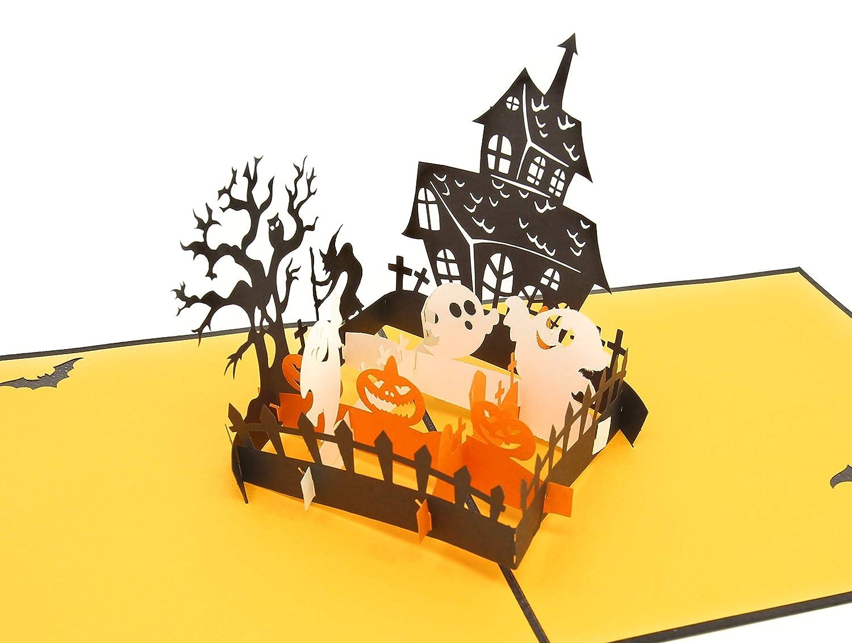 Tarjeta de felicitación 3D PopLife para Halloween, con texto en inglés