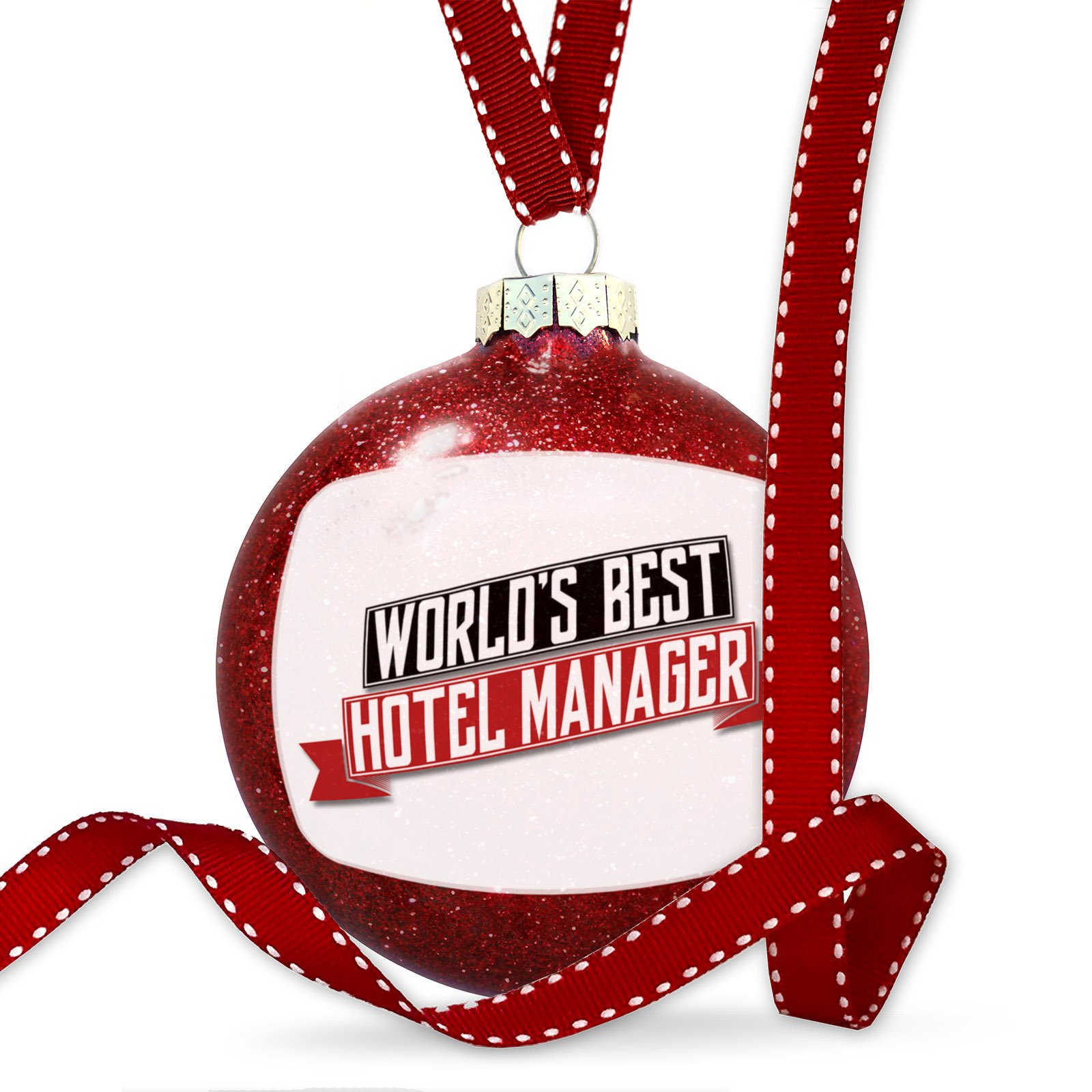 Christmas Decoration Worlds Best Hotel Manager Ornament