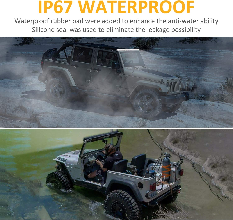 Zmoon Led Light Bar 14in Signal Row Light Bar 80W 8000lm Spot Flood Combo Off Road Light, Waterproof Slim Light Bar for SUV Jeep ATV Boat: Automotive