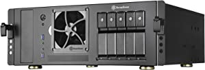 SilverStone Technology SST-CS350B ATX Rack mountable Server Case with 5 SATA/SAS 6 Gbit/s Trays and standard PSU Support