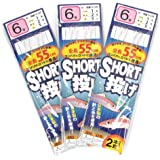TAKAMIYA(タカミヤ) SmileShip ショート投げ 3枚セット 針6号-ハリス1号 TF16