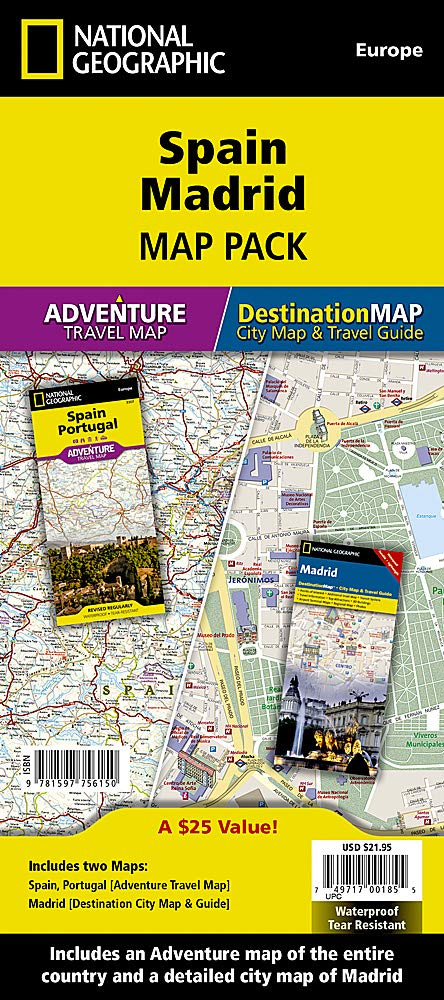 Spain, Madrid, Map Pack Bundle National Geographic Adventure ...