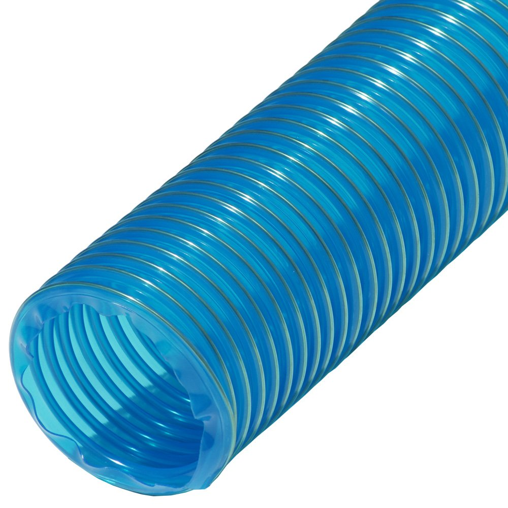 Fully Stretched General Purpose Rubber-CalPVC Flexduct - 2.5ID x 12.5ft - Blue 01-203-2.5-12