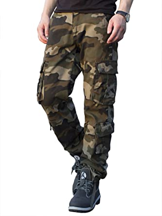 9439f5bb0 TAIPOVE Men's Army Combat Cargo 8 Pockets Tactical Military Surplus Pants  Camo Work Trousers Sport Urban