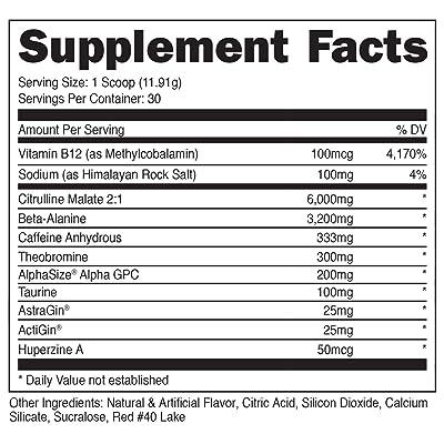 Buy Bucked Up Woke High Stim Pre Workout Best Tasting Focus Nootropic Pump Strength And Growth 30 Servings Blood Raz Online In Indonesia B07cyjj18n