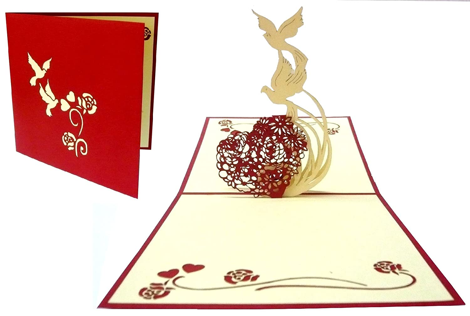 3D Pop Up Greeting Card 3D Greeting Cards With German Text \