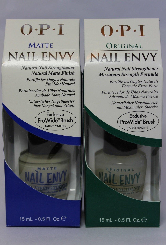 OPI Duo you Envy Me? Nail Envy Original 15ml + Nail Envy Matte 15ml ...