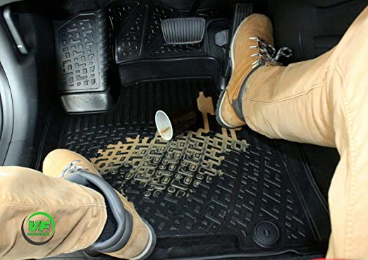 J J Automotive Rmme308 3d Gummimatten Gummifußmatten Für Mercedes Glk Klasse X204 Ab Bj 2014 Auto