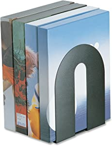"""Officemate Heavy Duty 10"""" Bookends, Non-Skid Base, Black, Pair (93142)"""