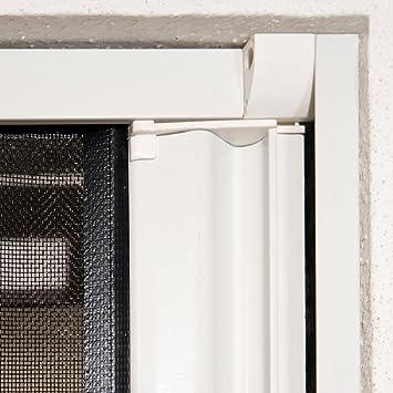 Mosquitera enrollable para puertas 125 x 220 cm con marco de ...