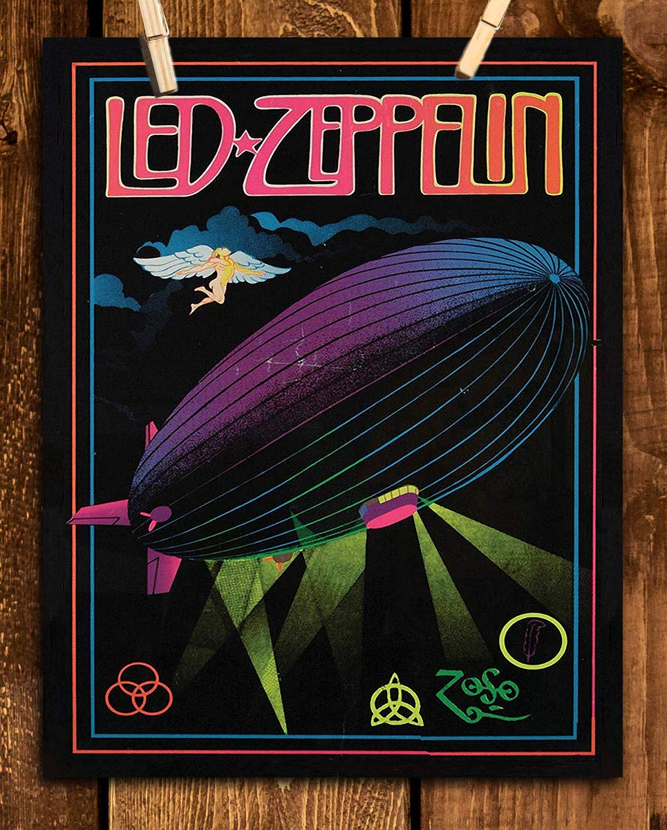 Amazon com: Led Zeppelin Band Poster Print- 8 x 10 Wall