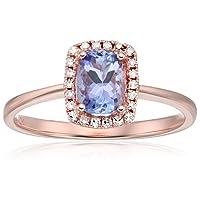 10k Diamond Cushion Halo Engagement Ring (1/10cttw, H-I Color, I1-I2 Clarity), Size 7