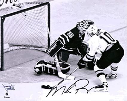 Mike Richter New York Rangers Autographed 8 X 10 Stanley Cup Final