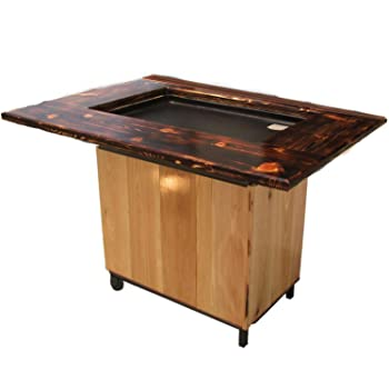 Backyard Hibachi Flattop Propane Gas Grill - Torched Cypress