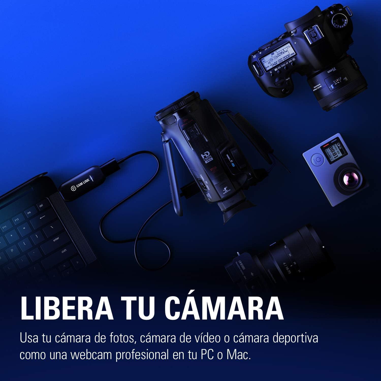 elgato Cam Link 4K – stream y grabación de fotos réflex, vídeo o ...