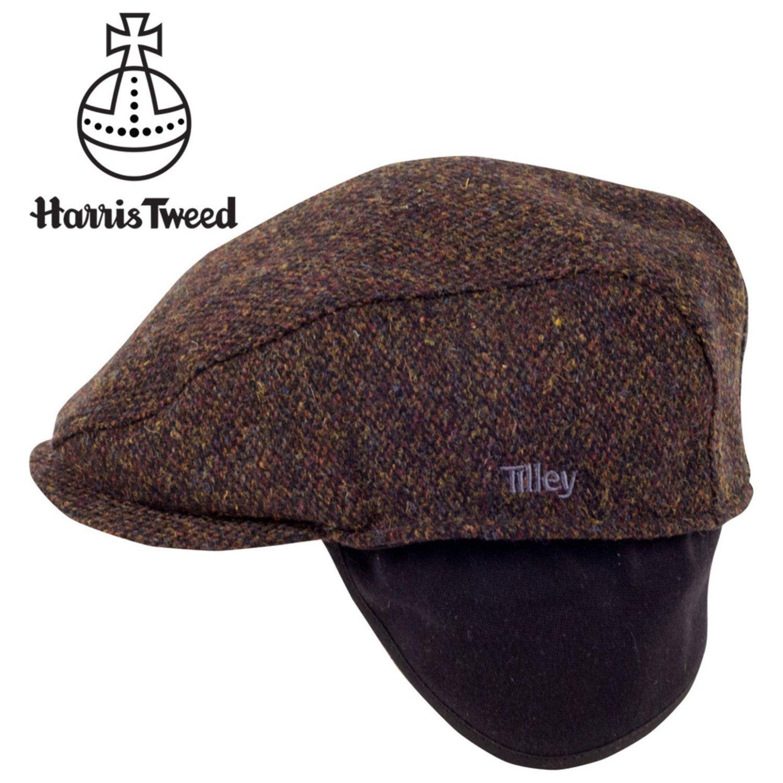 3d345c320b193 Tilley TIC1-HT Ivy Cap in Harris Tweed - Brown Plaid